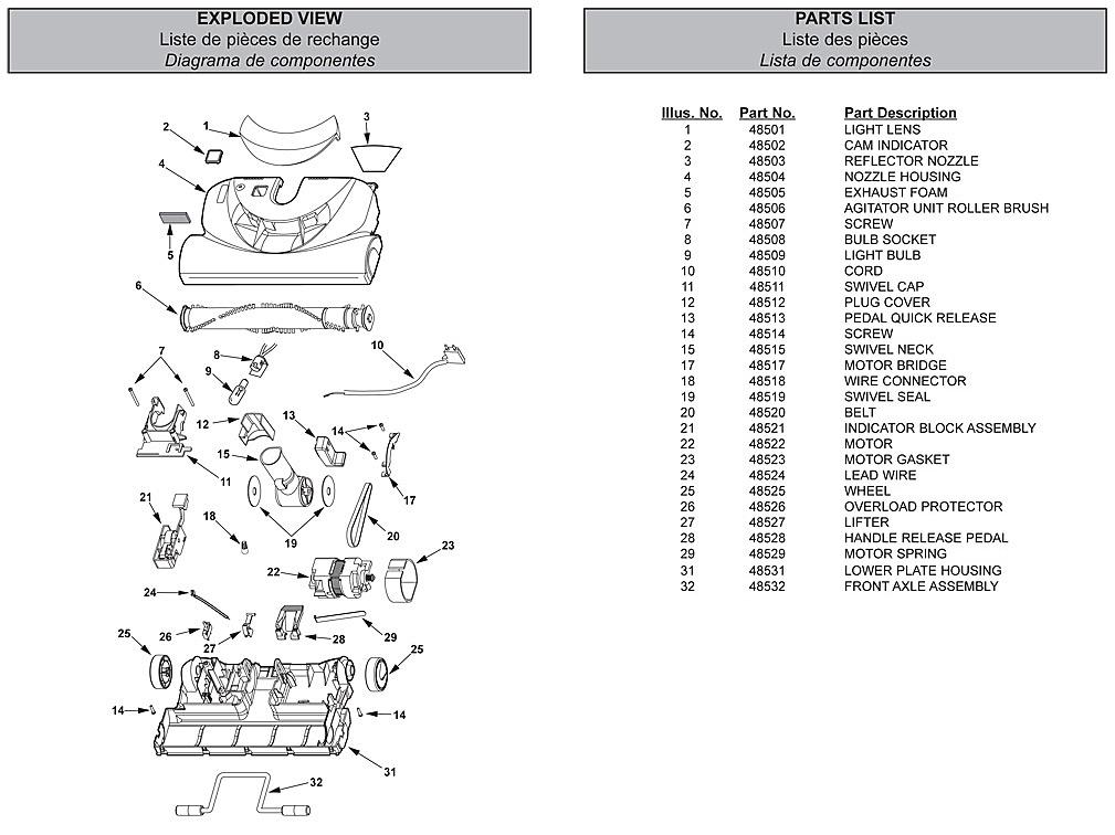 parts manual nutone vacuum system