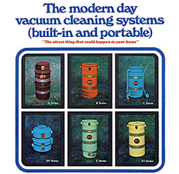 Colorful Central Vacuum Units from the Seventies