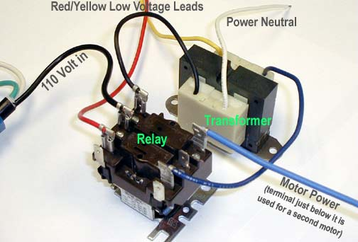 241 Relay Diagram how to test a vacuum motor, transformer, motor brushes, and relay 24 volt relay wiring diagram at mifinder.co