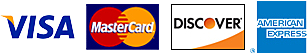 American Express, MasterCard, Visa, and Discover are all accepted payments types on this website.