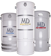 Central vacuum power unit tanks install in the basement or garage.