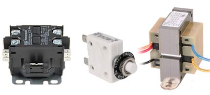 Find Relays, Transformers and Breakers