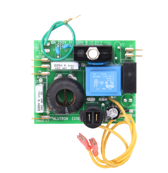 Control module circuit board for 240 volt dual motor for Low voltage motor control
