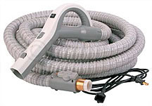 Stretch hose central vacuum