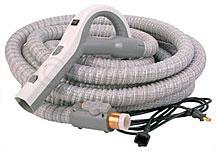 Stretch hose for central vacuum