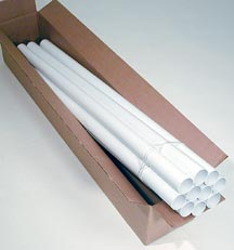40ft PVC Central Vac Pipe (ten 4-ft tubes) & MD Manufacturing - Pipe / Fittings for Central Vacuum installation