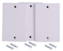 Inlet Blank Cover Plate, White (3 in a pack)