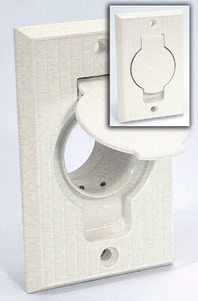 Basic Oval Door Central Vacuum Inlet For Vacuflo
