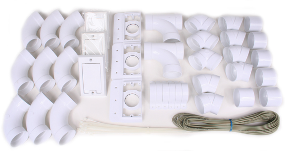 Install Kit with 3 Non-Electric Inlets