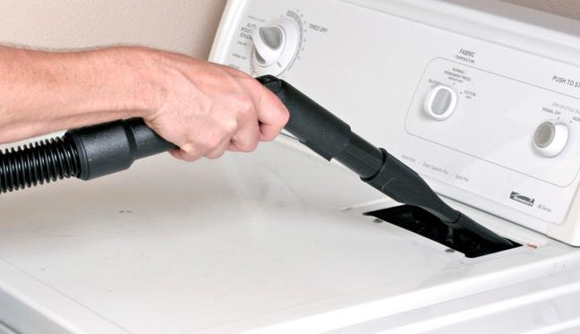 Flexible Crevice Tool Vacuums Tight Spots